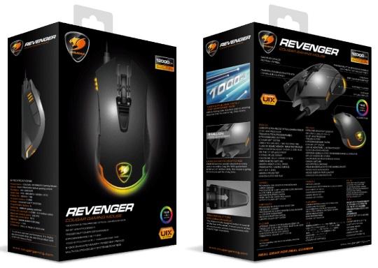 COUGAR представил игровую мышь Revenger с 12 000 DPI и RGB подсветкой