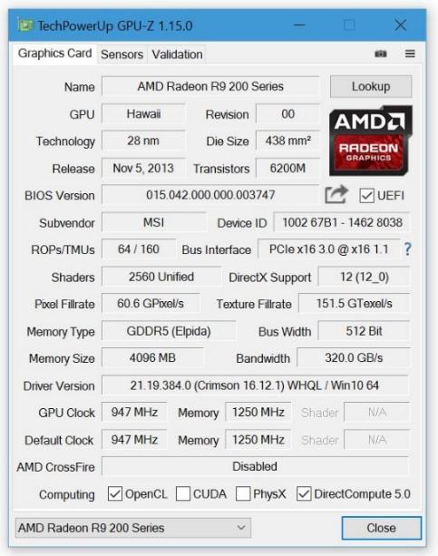 GPU-Z 1.16.0