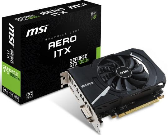 MSI GTX 1050 Ti Aero ITX