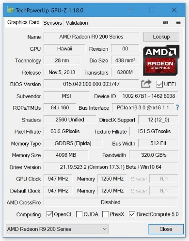 GPU-Z 1.18.0
