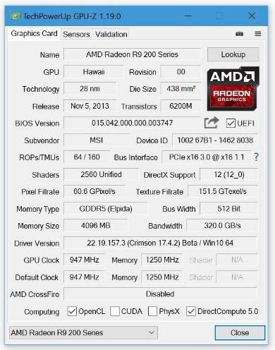TechPowerUp GPU-Z 1.19.0