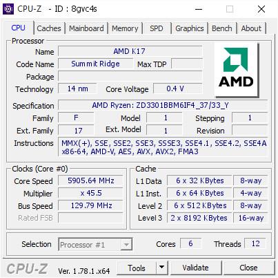 Ryzen 5 1600X до 5,90 МГц