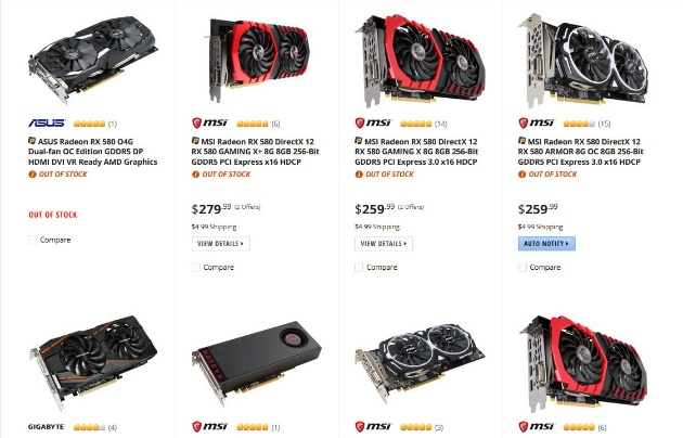 спрос на карты AMD