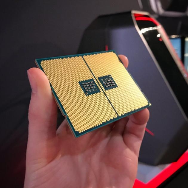 AMD Ryzen Threadripper, снимок нижней стороны процессора