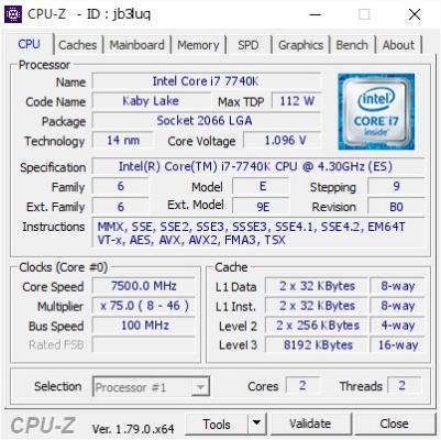 оверклокинг Intel Core i7-7740K