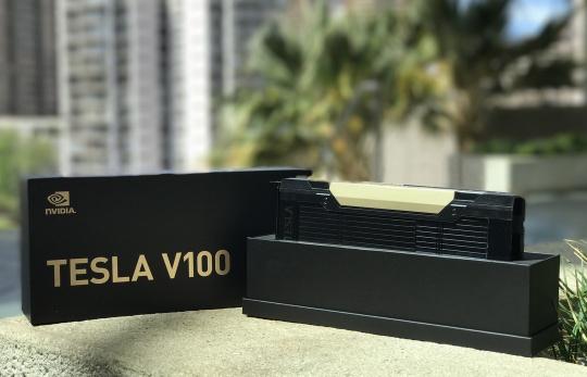Tesla V100 в коробке