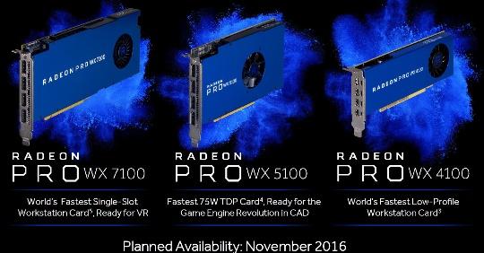 линейка Radeon Pro WX 9100