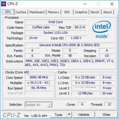 CPU-Z скриншот