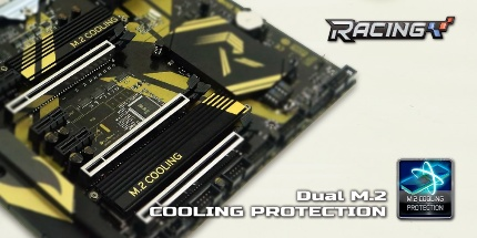 Dual M.2 cooling protection