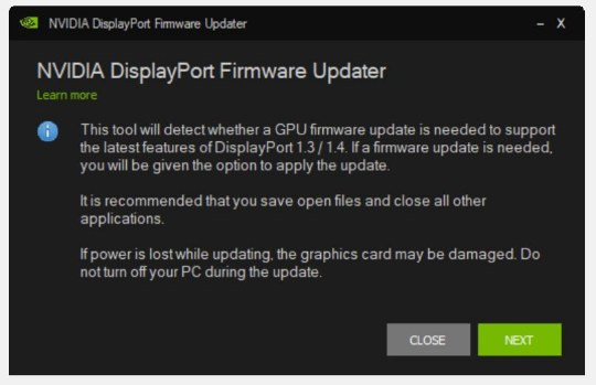 NVIDIA Graphics Firmware Update