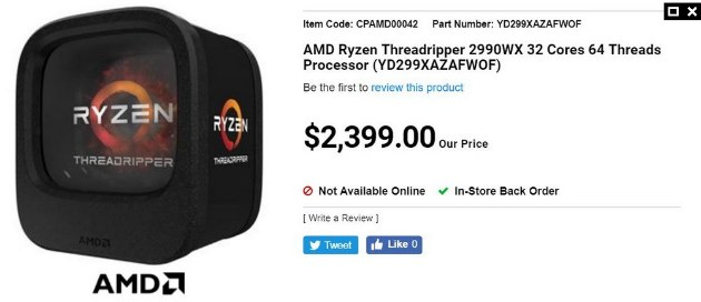 AMD Threadripper II 2990X за 1850 $