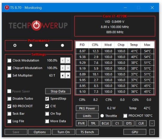 TechPowerUp ThrottleStop 8.70