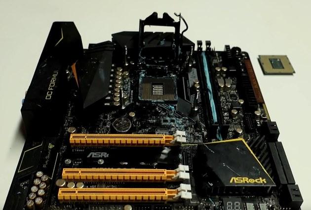 Intel Core i9-9900K разогнали до 5.50 ГГц на ASRock Z170M OC Formula
