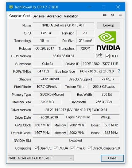GPU-Z 2.18.0