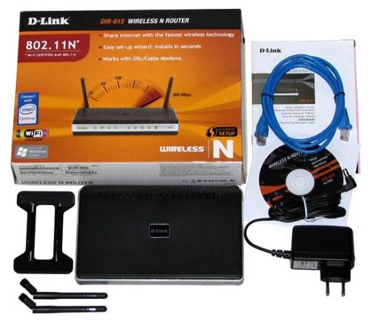 комплект поставки D-Link DIR-615