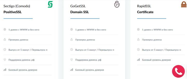 Выбор SSL сертификата
