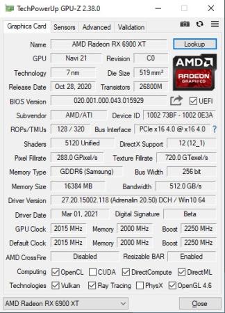 GPU-Z 2.38.0